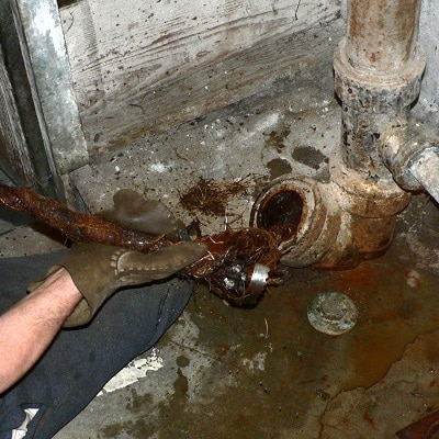 Plumber clean out drain